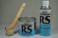 ローバルシルバー0.7kg刷毛塗タイプ&ローバルシルバースプレー420ml&50ミリ刷毛1本のセット