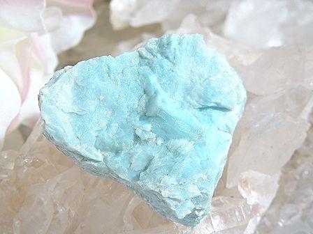 ラリマー 原石 母岩つき ☆ 明るい水色 (41グラム)