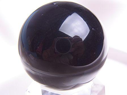 モリオン(黒水晶)丸玉 ☆ 27 mm ☆