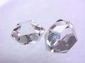 ハーキマーダイヤモンド ☆ 煌きが美しい高品質ルース(原石)2粒! ☆ 13 mm &10 mm/8.5 カラット