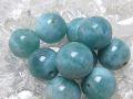 ラリマー 丸玉ビーズ (ディープカラー/10 mm〜11 mm) 《アウトレット》