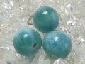 ラリマー 丸玉ビーズ (ディープカラー/11 mm〜12 mm) 《アウトレット》