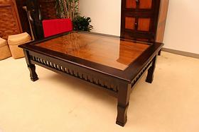< 横幅 100cm >憧れの南国ヴィラのテーブルが今、あなたのお部屋に【A-009L100BR】《送料無料》