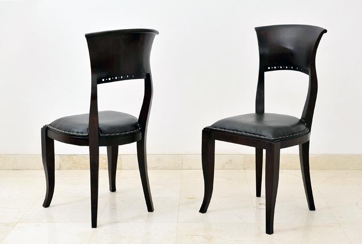 ロングヒット商品!椅子部門売れ筋NO.1!座面はレザーで座り心地も抜群なイタリータイプチェアー!【A-027-A】《送料無料》