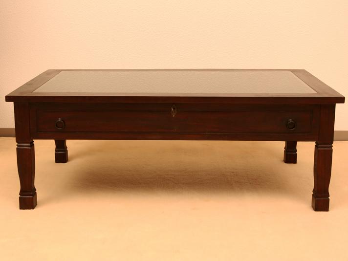 < 横幅 110cm >ディスプレイでいろいろ楽しめる!コレクションテーブル【LNT-020BR】《送料無料》