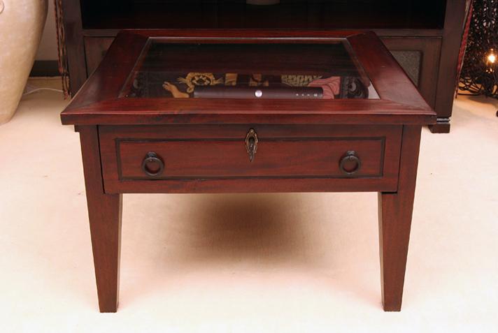 < 横幅 55cm >ディスプレイでいろいろ楽しめる!コレクションテーブル【N-052BR】《送料無料》
