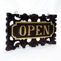 アジアンな手作りドアプレート (OPEN/CLOSE)【45799】