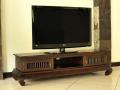< 横幅 155cm >高さ40cmのアジアンモダンスタイルなテレビボード 【AS-015】《送料無料》