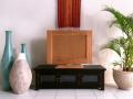 < 横幅 120cm >どこか懐かしいレトロガラスが人気のロータイプTVボード!!【AS-219】《送料無料》 セミオーダー対応