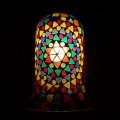 <送料無料>色鮮やかな小さなガラスを石膏に埋め込んで 1つ1つ手作りで造られたランプ。【ICTP646501】