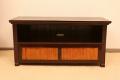 < 横幅 110cm >チーク&バンブーのアジアンテイストなテレビボード!大人気ロングセラー商品です【LNT-004BR】《送料無料》