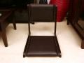 水牛レザーを贅沢に使用!他にはないアジアンな座椅子!【LNT-015BR】《送料無料》
