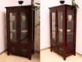 可愛い食器棚 品のあるコレクションケース 横幅60cmでスマートなマルチキャビネット【N-050BR】《送料無料》