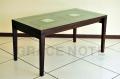 《送料無料》ガラス天板の彫刻が高級感を醸しだすダイニングテーブル【WDT-03】