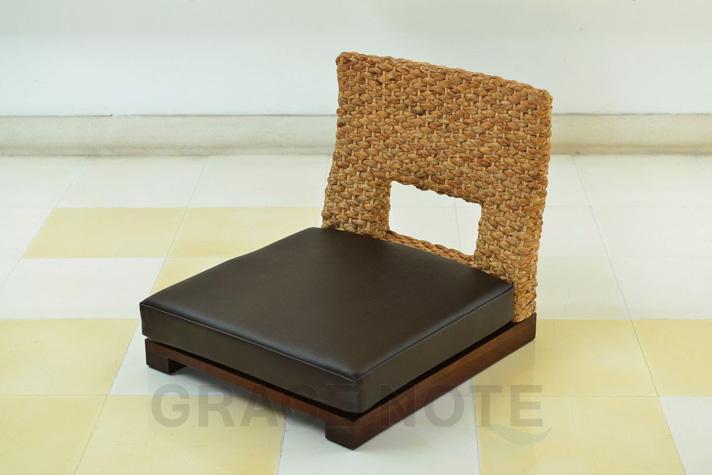 《送料無料》ちょっと珍しいウォーターヒヤシンスを使った座椅子【WC-14】[GRACE NOTE グレイスノート]