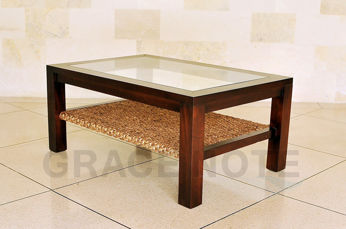 【送料無料】【 横幅 110cm 】アジアンテイストたっぷりな、ヒヤシンスローテーブル(Lタイプ)【WLT-02】