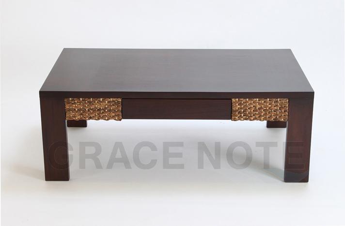 《送料無料》< 横幅 110cm >ミニマリストなデザインが魅力的なローテーブル【WLT-03】