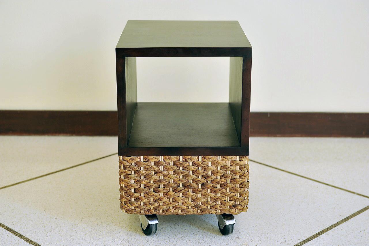《送料無料》キャスター付きサイドテーブル【WR-03】