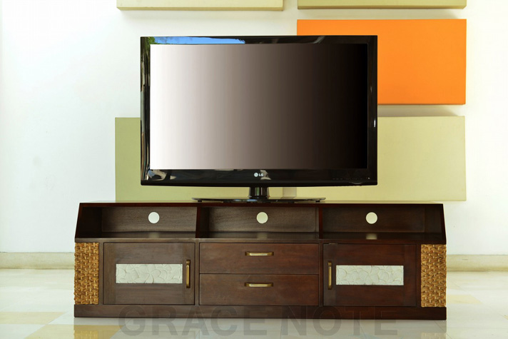 《送料無料》【WTV-10】大型テレビも安心のテレビボード[GRACE NOTE グレイスノート]
