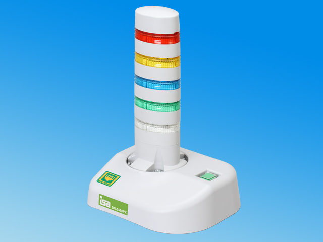 (k-poe5) 警子ちゃん4PX <5灯モデル> DN-1550PX-N5L ※PoE受電規格対応、ネットワーク警告灯