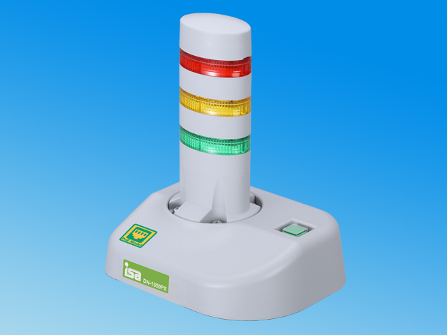 (k-poe3) 警子ちゃん4PX <3灯モデル> DN-1550PX-N3L ※PoE受電規格対応、ネットワーク警告灯