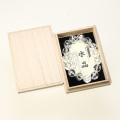ブレスレット 水晶 スターカット 14φ 15玉 (桐箱付) No.21
