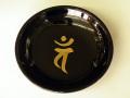 梵字ブラック皿 【バン】
