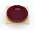 ワインレッド皿 『盛り塩用』