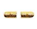 小宮丸鉾金具 銅地特上本金鍍金 半文字2分×5分