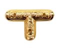 小宮丸鉾金具 銅地特上本金鍍金 T文字2分×1寸