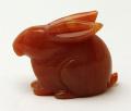 甲府彫刻 ウサギ (カーネリアン) No.11