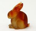 甲府彫刻 ウサギ (カーネリアン) No.9