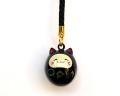 福音鈴 招き猫 (漆黒色)