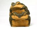 一刀彫 蛙(二匹蟇)