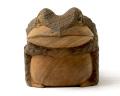 一刀彫 蛙(蟇)7寸5分