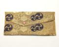 珠数入 西陣織(金 三つ巴)