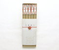 お箸飾り 鉱石 紅白 5個セット 祝い箸付き