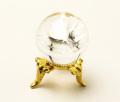 丸玉 天然水晶 (レインボー入り) φ25 No.52