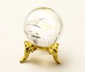 丸玉 天然水晶 (レインボー入り) φ26 No.42