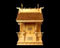 【アウトレット】神棚 桧皮葺一社宮 流れ屋根造り〈H-1〉 No.1