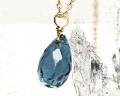 Jewel Drops ロンドンブルートパーズ K18 No.2