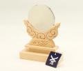 神鏡 鏡+木曽桧製雲形台 2寸