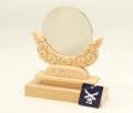 神鏡 鏡+木曽桧製雲形台 2.5寸