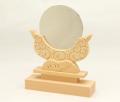 神鏡 鏡+木曽桧製雲形台 3寸