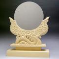 神鏡 鏡+木曽桧製雲形台 6寸