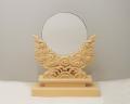 神鏡 青銅鏡+特上彫り雲形台 5寸