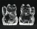 招き猫 天然水晶(2個セット)No.1