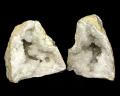 水晶 ジオード(晶洞) 2個セット No.10