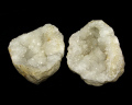 水晶 ジオード(晶洞) 2個セット No.12
