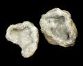 水晶 ジオード(晶洞) 2個セット No.14